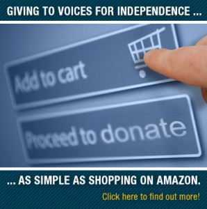 Shopping on Amazon.com Helps Voices for Independence.