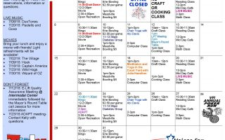 Stay Cool with the July 2018 Erie Activities Calendar!