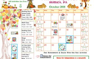The Seneca October Calendar Has Arrived!