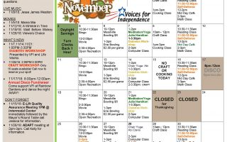 November's Erie Activities Calendar is Here!