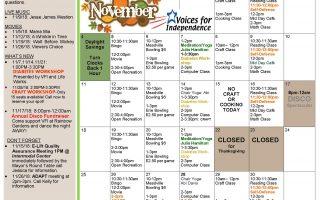 November's Erie Activities Calendar is Here!