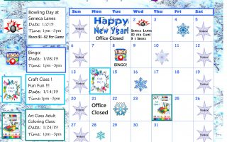The Seneca January 2019 Calendar is Here!