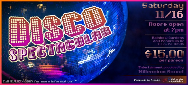 VFI DISCO SPECTACULAR 2019 WEBSITE FEATURED IMAGE 1 - Rainbow Gardens Erie Pa Events 2019